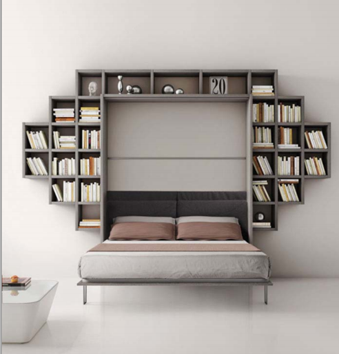 Armadio letto con libreria formaflex materassi verona for Armadio libreria ikea
