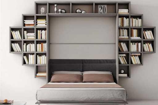 Armadio letto con libreria evidenza formaflex materassi verona