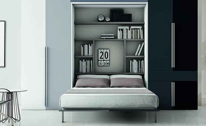 letto-a-scomparsa-verona-aperto-modello27 - Formaflex Materassi Verona