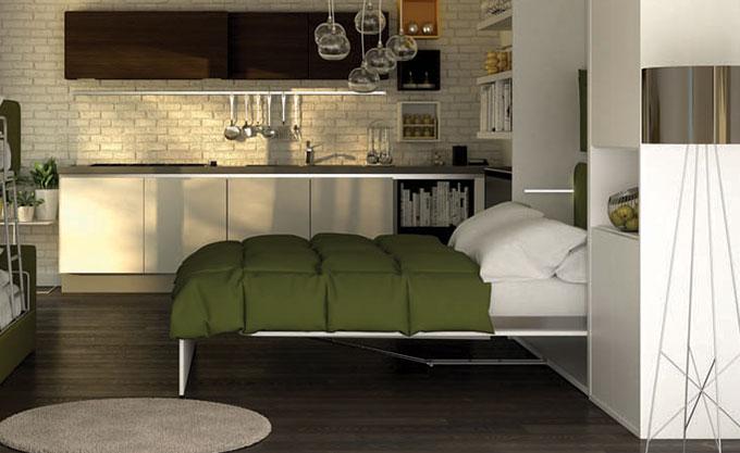 letto-a-scomparsa-verona-aperto-modello31 - Formaflex Materassi Verona