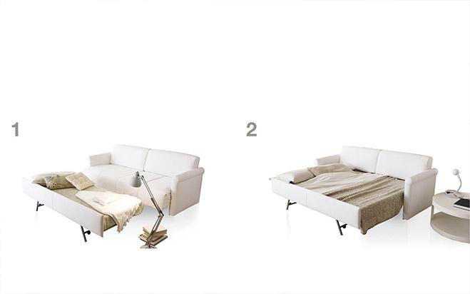 Divano letto aperto fab3 formaflex materassi verona - Divano letto aperto ...